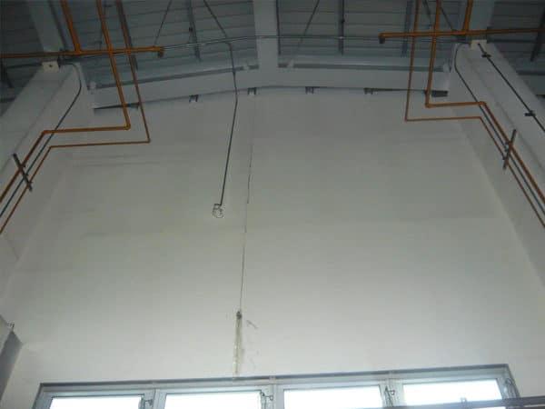 鋼結構-內牆面施工前漏水狀況