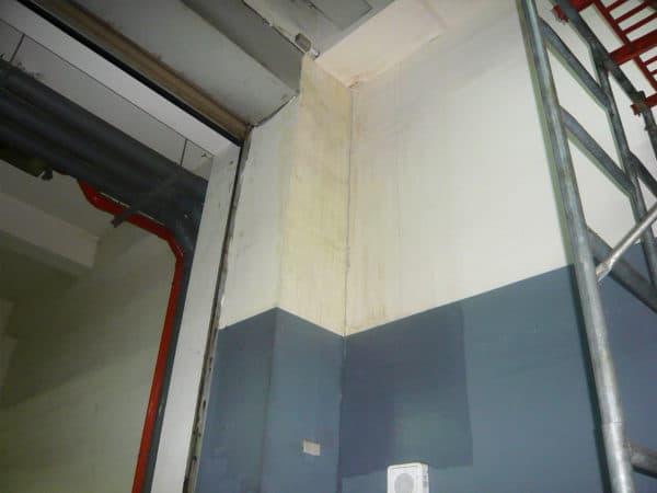 鋼結構-內牆施工前漏水狀況