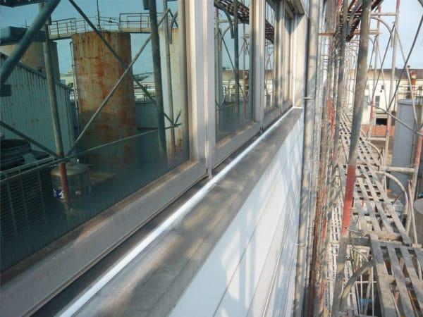 鋼板-窗框介面防水