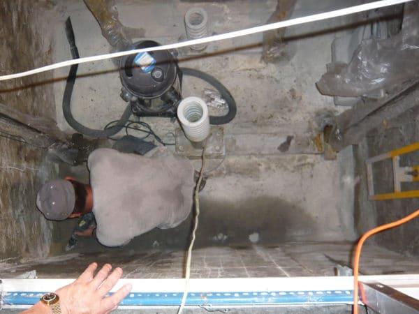 電梯筏基止漏施工