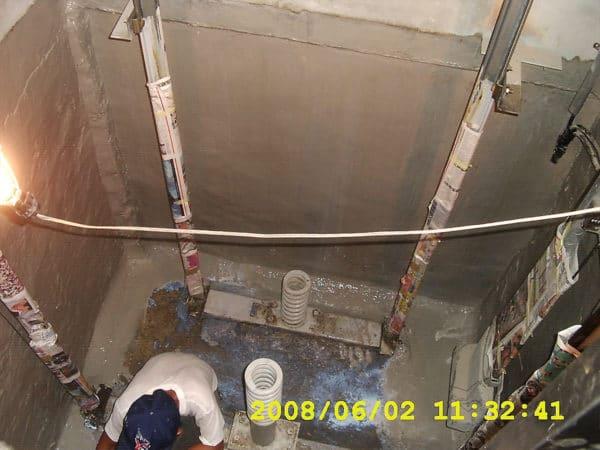 電梯基坑止漏防水施工