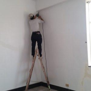 牆結構接縫-施工中