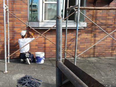 窗構-外部施工中